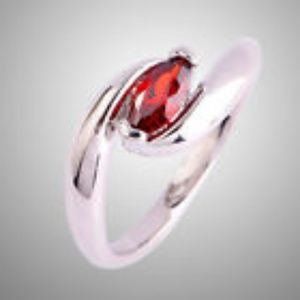 Solitaire Garnet Gemstone